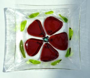Flower Red Dish